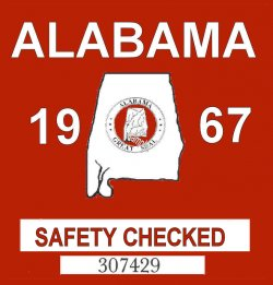 1967 Alabama Safety Check inspection