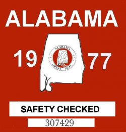 1977 Alabama Safety Checked