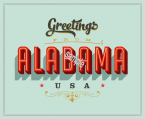 1950's Alabama Vacation Sticker