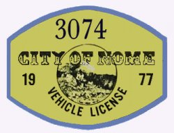 1977 Alaska Registration Sticker NOME