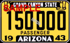 1943 Arizona Registration/Inspection Sticker