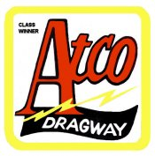 ATCO NJ drag race sticker WINNER