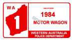 Australia 1983-84 WA Inspection Sticker