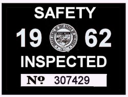 1962 Arizona Inspection Sticker