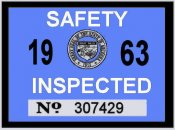 1963 Arizona inspection sticker