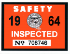 1964 Arizona Inspection Sticker