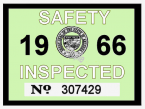 1966 Arizona Inspection Sticker
