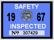 1967 Arizona Inspection Sticker
