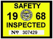 1968 Arizona inspection sticker