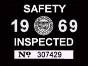 1969 Arizona inspection sticker