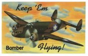 "1942 Keep Em Flying ""Bomber"" WW2 Sticker"