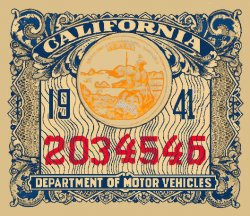 1941 California Registration In spection sticker