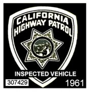 1961 California Inspection Sticker