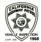 1968 California Inspection Sticker