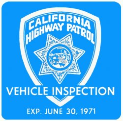 1971-06 California Inspection Sticker