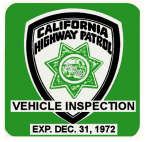 1972-12 California Inspection Sticker