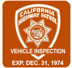 1974-12 California Inspection Sticker