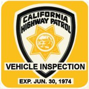 1974-06 California Inspection Sticker