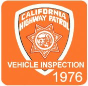 1976 California INSPECTION Sticker