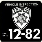 1982 CA safety check Inspection Sticker