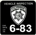 1983 California safety check Inspection sticker