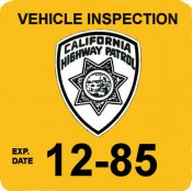 1985 California inspection sticker