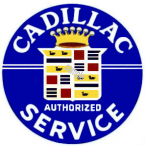 CADILLAC Authorized Service Sticker 1950s 60s