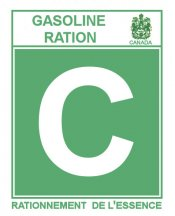 1945-46C Gas Ration Sticker CANADA