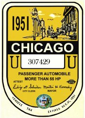 1951 IL inspection/tax sticker CHICAGO
