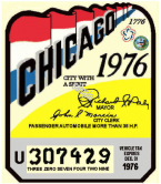 1976 Tax Inspection sticker CHICAGO