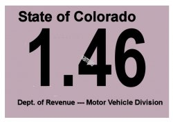 1946 Colorado Inspection Sticker