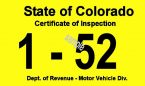 1952 Colorado Inspection Sticker