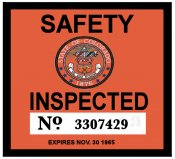 1965 Colorado Inspection sticker