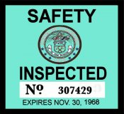 1968 Colorado inspection sticker