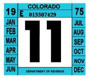 1975 Colorado Inspection Sticker