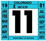 1981 Colorado Inspection sticker