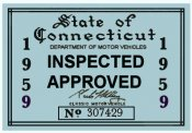 1959 Connecticut Inspection Sticker