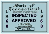 1960 Connecticut Inspection Sticker