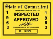1963 Connecticut inspection sticker