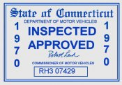 1970 Connecticut Inspection sticker