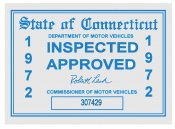 1972 Connecticut Inspection Sticker