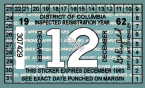 1962 District of Columbia Inspection sticker