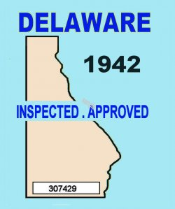 1942 Delaware Safety Check Inspection