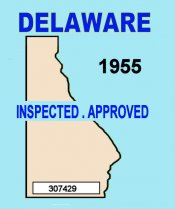 1955 Delaware Inspection sticker (Estimate)