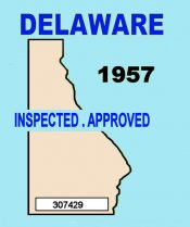1957 Delaware Inspection Sticker (Estimate)