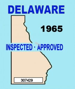 1965 Delaware Inspection Sticker (Estimate)