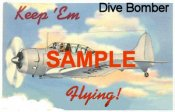 "1942 Keep Em Flying ""Dive Bomber"" WW2 Sticker"