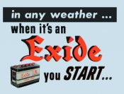 Exide Battery window sticker
