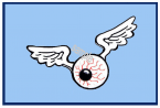 EYEBALL WITH WINGS