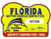 1952 Florida Safety Check Inspection sticker